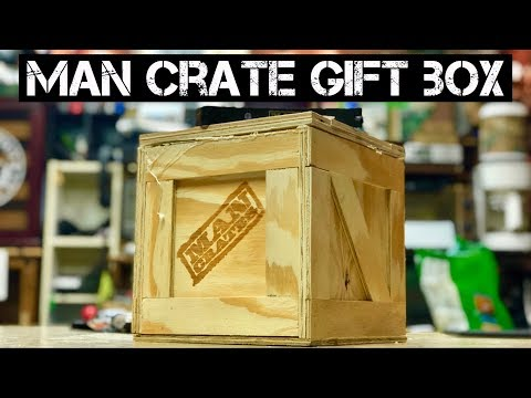 Man crate gift box – Opening and the contents inside are awesome – from Spectrum Bill
