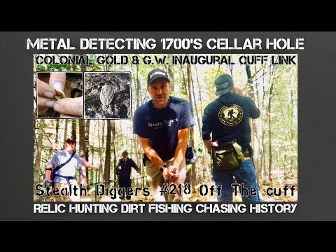 Colonial Gold G W Cufflink Metal detecting NH