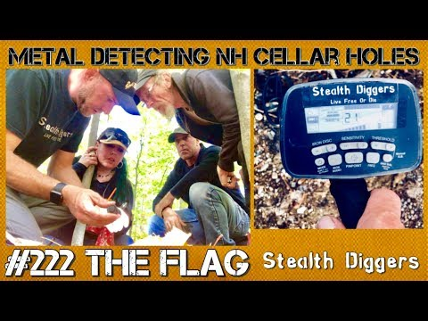 The Flag out In The Woods Metal Detecting NH Old Foundations
