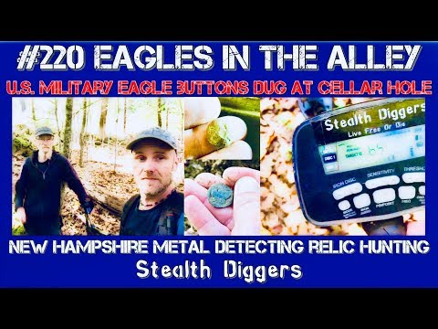 Eagles in the alley – Metal detecting military buttons & Surface find challenge