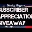 Subscriber appreciation giveaway Stealth Diggers Metal detecting gear prize contest free