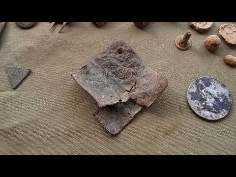 Metal Detecting! – Found Rare Slave Tag and Silver Half Dollar!