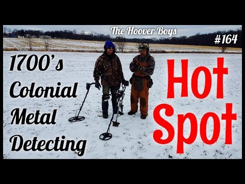 Treasure Hunters Discover 1700's Colonial Hot Spot Metal Detecting