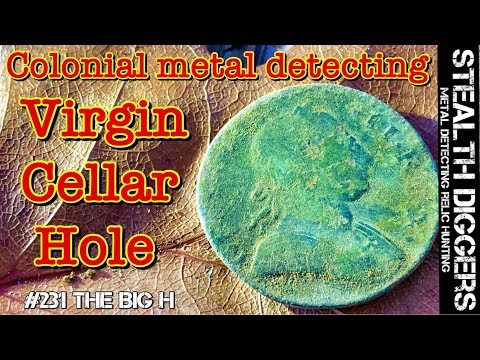 colonial metal detecting the BIG H virgin cellar hole with amazing finds