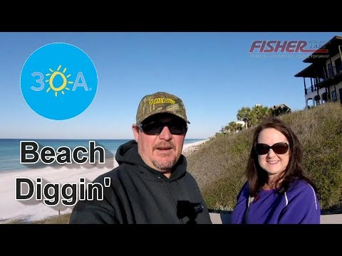 Metal Detecting Finds on the Beach! 30A – Fisher CZ21 Metal Detector