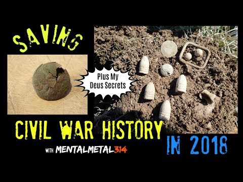 Saving Civil War History Plus My XP Deus Secrets Revealed