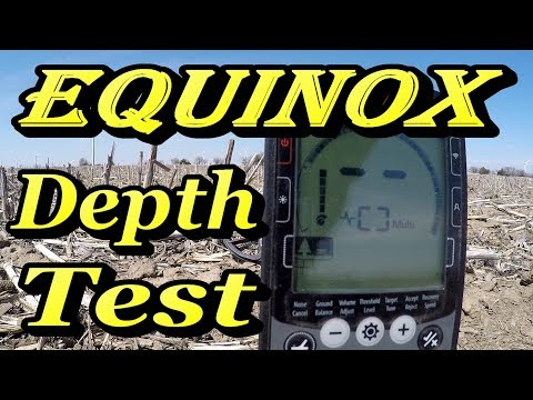 Minelab Equinox Metal Detector Depth Test on Dime