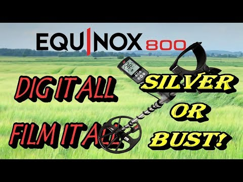 Minelab Equinox hunt – Silver or bust!  Curse of the camera…
