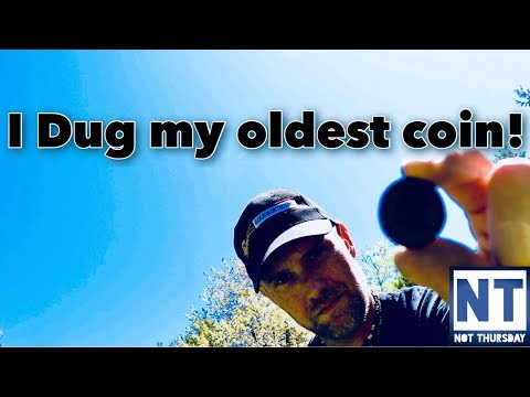 I Dug my oldest coin metal detecting at a cellar hole in NH