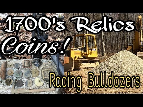 Virgin Site Metal Detecting 1700s Coins & Racing Bulldozers