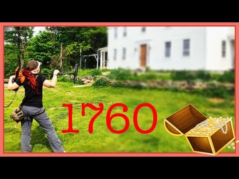 Metal detecting: What's in the 1760s yard?  We found gold and silver!