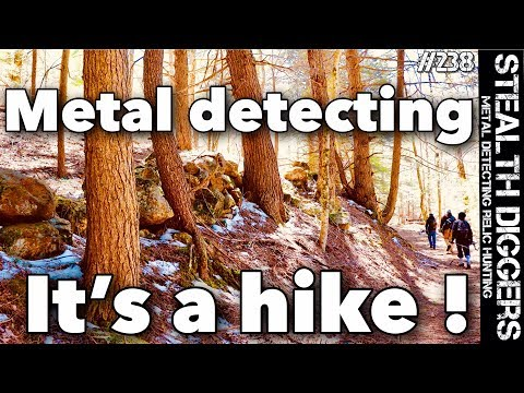 Its a hike metal detecting in New Hampshire Colonial cellar holes