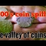 Metal detecting The valley of coins colonial homesite cellar holes in NH 1700s coin spill #241 VLOG