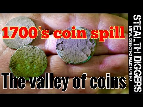 Metal Detecting The valley of Coins – 1700s coin spill