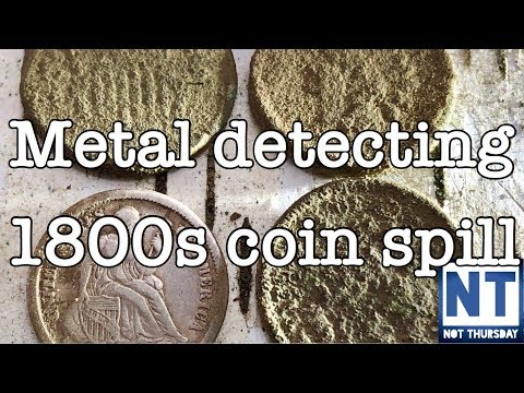 1800s silver coin spill found metal detecting coins in the woods – Not Thursday #19 Garrett ATGOLD