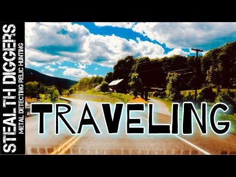 Traveling road trip to Saratoga springs NY & hiking for cellar holes in NH #234 Metal detecting