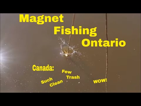 Magnet Fishing Ontario: That's One Clean Place!