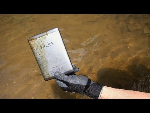 River Hunting – Found Purple Unicorn, Kindle Tablet and Free Drinks in the River!