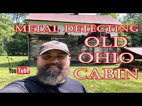 METAL DETECTING IN OHIO AT A CABIN: OLD COINS AND OLD RELICS #metaldetecting #5280adventures