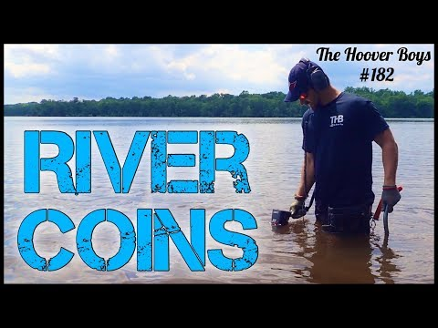 Metal Detecting in the Water for Old Coins