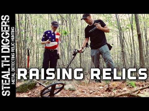 #250 Raising relics Metal detecting cellar holes of old colonial homesites Garrett metal detector