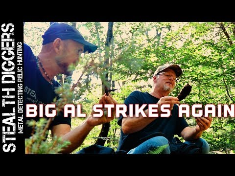 Big Al strikes again # 235 Metal detecting 1700's cellar hole NH for colonial America relics
