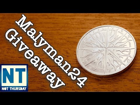 Malyman24 Silver round coin giveaway   Not Thursday #45  Win a big silver coin from Mike 1080p