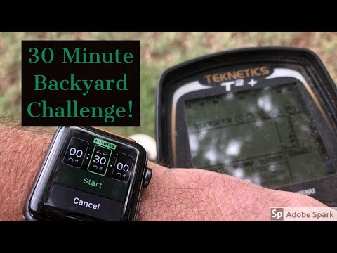 Metal Detecting – 30 Minute Backyard Challenge! Teknetics T2