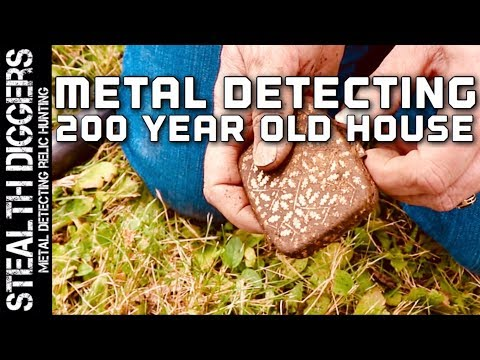 The 200 year old house #251 metal detecting a house permission with coins toys silver jewelry 1800s