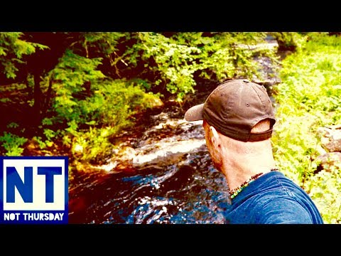 Hiking & exploring the woods of New Hampshire finding metal detecting sites  – Not Thursday #48
