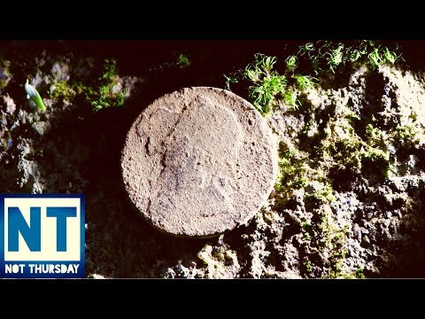 Thunderstorm metal detecting at a 1700s homesite cellar hole New England Trip 4 – Not Thursday #41