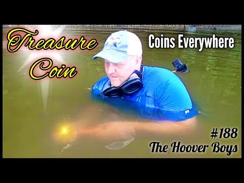 Dead Low Tide Metal Detecting Coins Everywhere! Treasure Coin Found!!