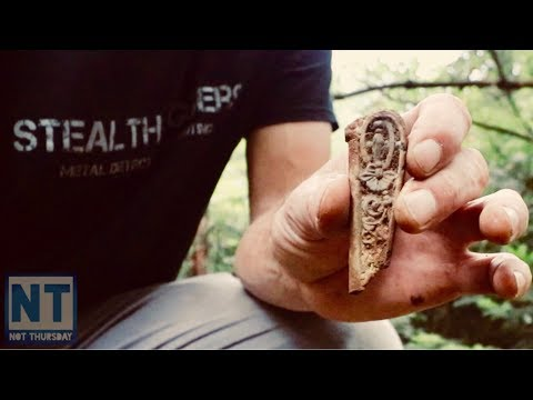 Dont give up metal detecting finding old relics at a NH foudation Not Thursday #65 Garrett atgold