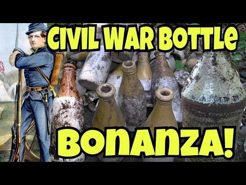 SICK Civil War Bottle Hoard DUG! OMG 100's of Bottles!