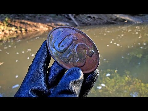 RIVER Surprise! – Found Two Civil War Buckles In One Day!