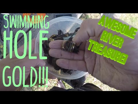 Swimming Hole GOLD- Metal Detecting River Treasure