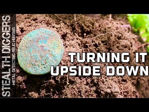 Turning it upside down #255 metal detecting a 1700s home site cellar hole in NH Vermont copper find