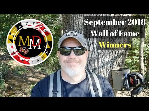 Metal Detecting Maryland: September 2018 Wall of Fame Winners!