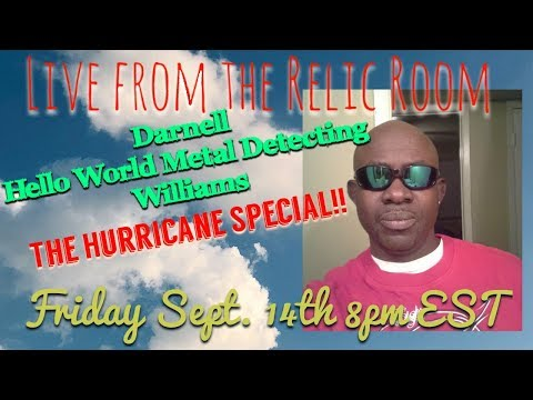 Gone Diggin Live from the Relic Room with Darnell Hello World Metal Detecting Williams