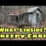 ABANDONED Creepy Cabin in NH Woods, What's inside? Criminal hideout? Bizarre Weird CRAZY OMG!