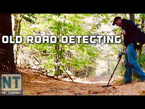 Metal Detecting the Old Dirt Road on a nice NH Fall Day