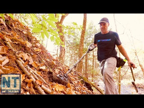 Metal Detecting New England Mill site NH beautiful October Foliage
