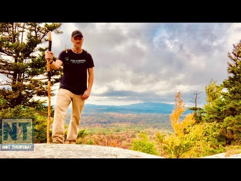 Bushwacking hiking to a mountain top in New Hampshire Not Thursday #74 Fall foliage Iphone XS video