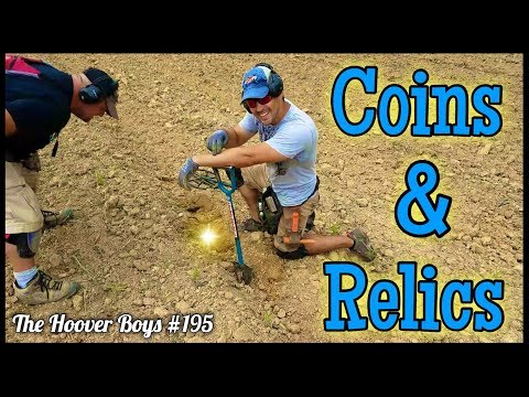 Metal Detecting Old Coins & Relics in a Fresh Plowed Farm Field