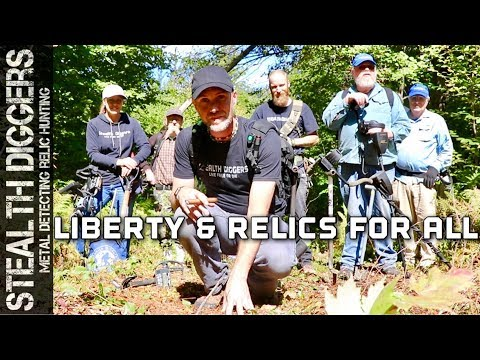 Liberty & relics for all metal detecting 1700s cellar hole in the woods of NH #263 treasure hunting