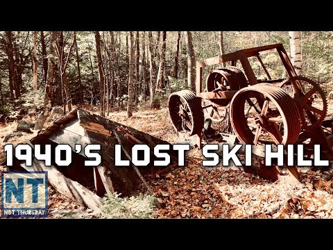 Lost ski hill search & find in New Hampshire – Old rope tow and lift -Not Thursdy #85 Abandoned Ski