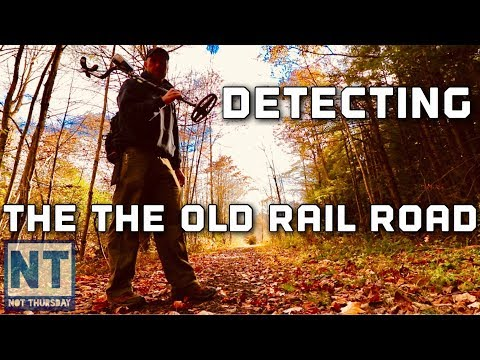 The old rail road bed metal detecting NH train track finds – Not Thursday #87 Garrett metal detector