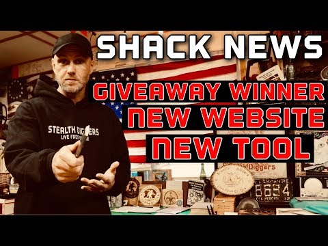 Stealth Diggers News Giveaway winner , New not Thursday website ,New Extractor pry bar tool