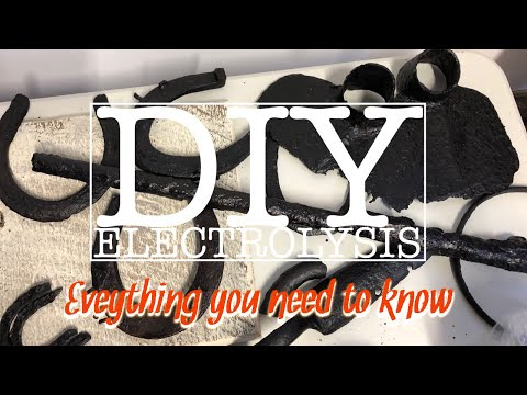 DIY Electrolysis for preservation of Iron Metal Detecting Finds
