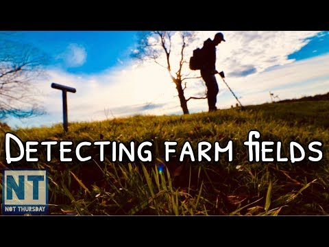 Metal detecting farm fields in New Hampshire Not Thursday #94 1700s 1800s relics Garrett ATGOLD